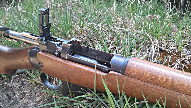Lee Enfield receiver closeup. Pic: Gareth Corfield
