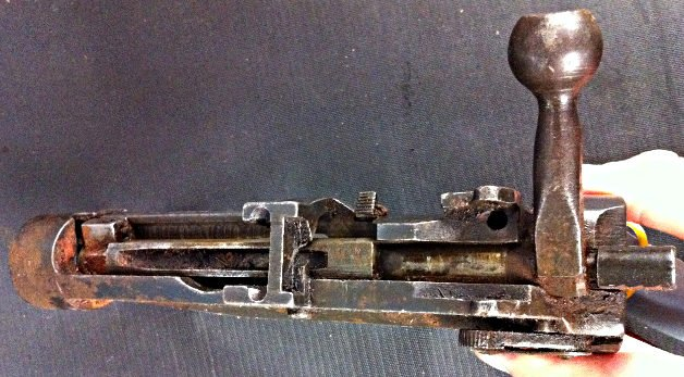 Rusty Lee Enfield receiver. Pic: Gareth Corfield