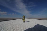 Our Playmonaut on the runway at Spaceport America