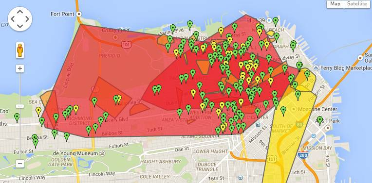 SF power outage map