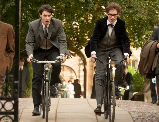 Harry Lloyd and Eddie Redmayne in The Theory of Everything