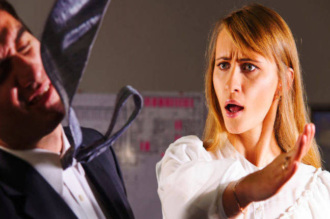 Man Slaps Another Man Woman Slaps Man