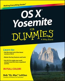 OS X Yosemite For Dummies book cover