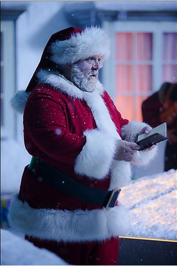 Santa and list, photo: BBC