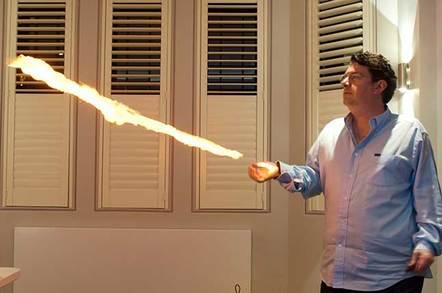 Less flash paper produces a longer flame