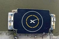 SpaceX barge landing spot