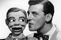 Paul Winchell and dummy