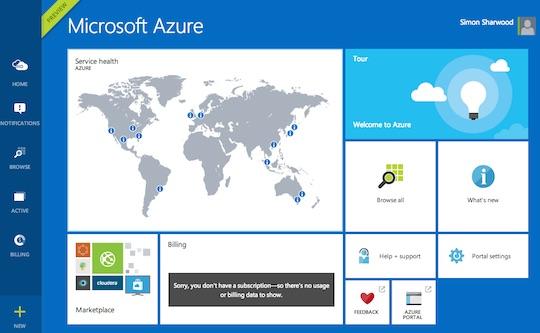 Azure management portal preview
