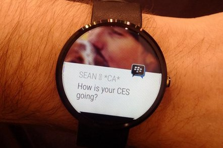 BlackBerry Messenger running on Android Wear