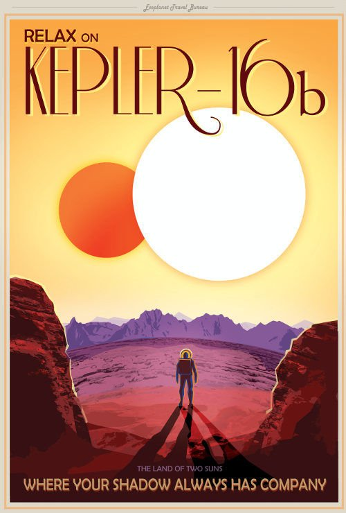 Visit Kepler16b poster by NASA