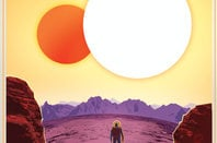 NASA travel poster for Kepler-16b crop
