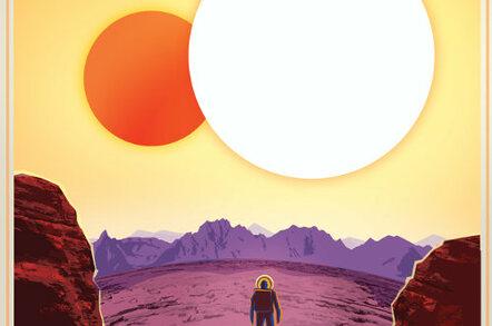 NASA travel poster for Kepler-16b crop