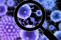 Close-up of the flu virus (artist's impression) - Shutterstock