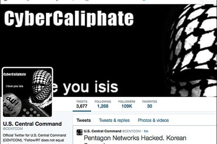 Hacked US CENTCOM Twitter account