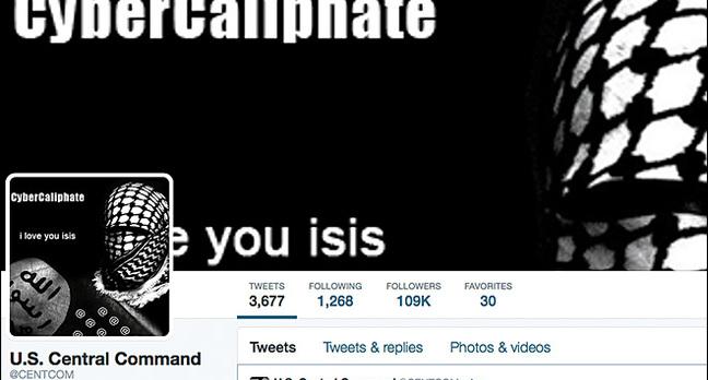 Hacked US CENTCOM Twitter account