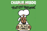 First Charlie Hebdo cover after attack. copyright: charlie hebdo