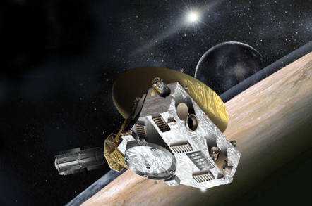 New Horizons spacecraft approaching Pluto