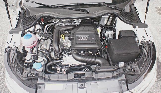 Audi A1 1.0 litre engine bay. Pic: Simon Rockman