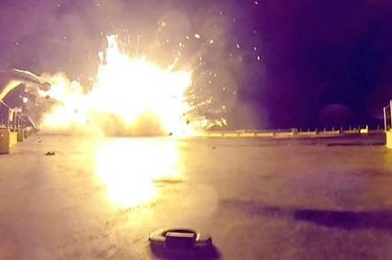 Falcon explodes