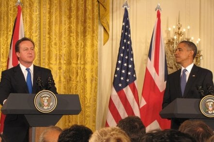 UK Prime Minister David Cameron with US President Barack Obama