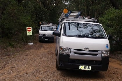 Three Telstra vans restore one line