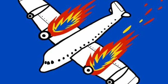 Airplane crash - pic by shutterstock