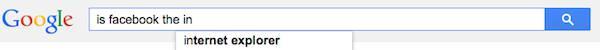Is Facebook Internet Explorer?