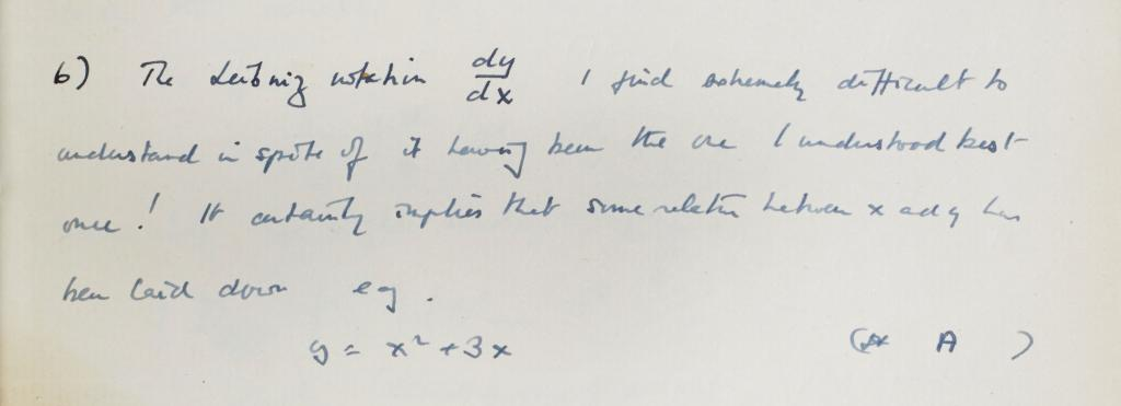 An extract from an Alan Turing notebook to be auctioned in April 2015