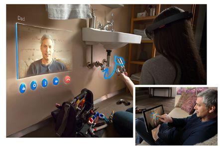 HoloLens Skype