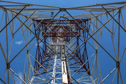 Cell tower, view from below. Image by Shutterstock.com