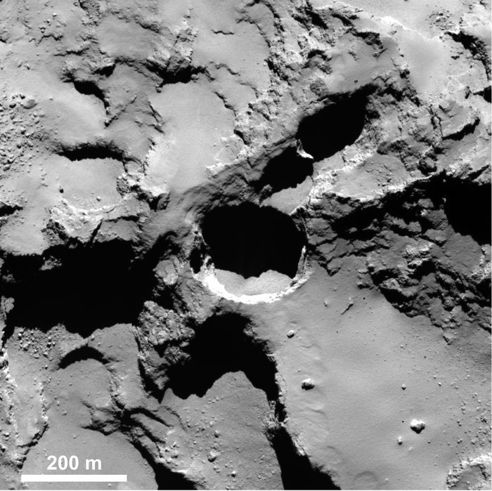 A 'pit' on comet 67p