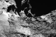 A crack on comet 67P