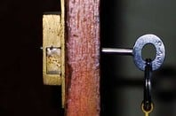 Key in a wooden door. PIC by Tawheed Mazoor - licensed under CC 2.0