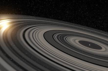 Rings around distant planet