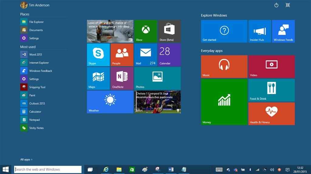 Windows 10 Start