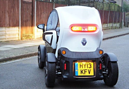 Renault Twizy rear view by Simon Rockman