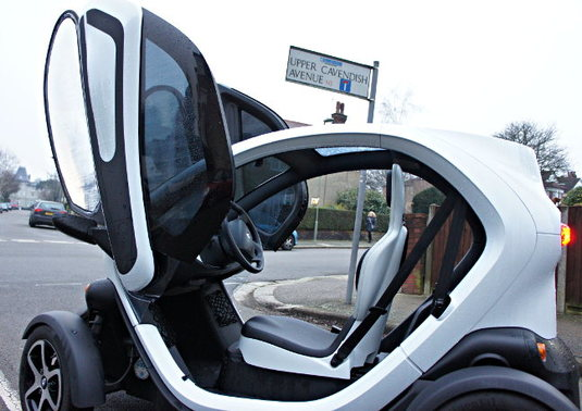Renault Twizy through view by Simon Rockman