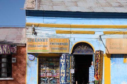 BOLIVIA, UYUNI, 17 SEPTEMBER 2014 - Internet and mobile communications in Uyuni, Bolivia, South America - pic via shutterstock