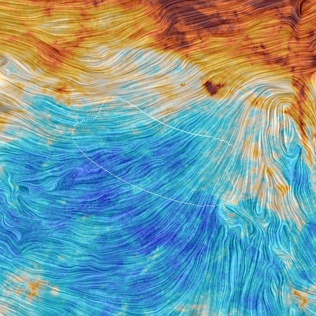 Planck view of BICEP2 field (image credit: ESA/Planck)