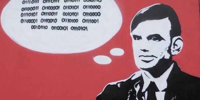 Banksy-style graffiti image of Alan Turing