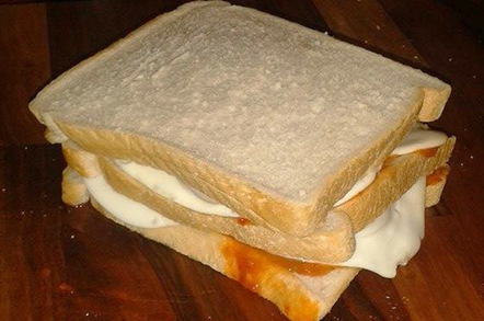 The finished sandwich