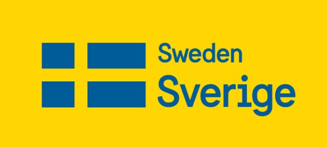 The new Swedish brand frontage - with flag and shiny new font