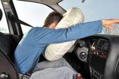 Man faceplants in airbag