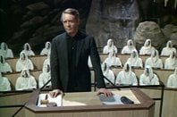 "Patrick McGoohan as The Prisoner in ""Fall Out"""