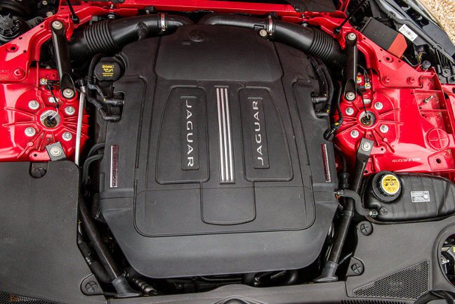 Jaguar F-type engine bay. Pic: Guy Swarbrick