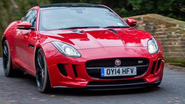 Jaguar F-type front view. Pic: Guy Swarbrick
