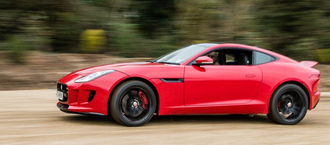 Jaguar F-type in motion. Pic: Guy Swarbrick