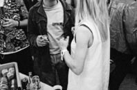 Kim Gordon with Kurt Cobain, photo courtesy of Charles Peterson