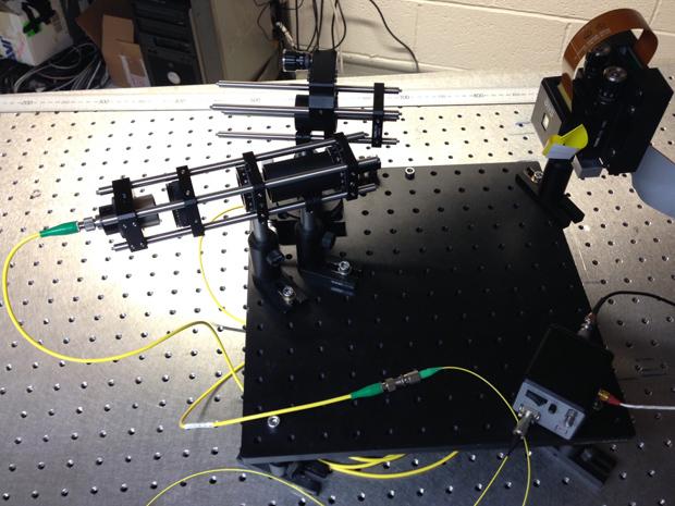 Oxford University's multi-gigabit visible light comms demo