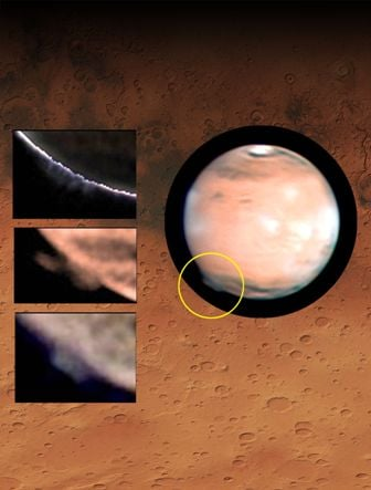 The mysterious plume in Mars' atmosphere